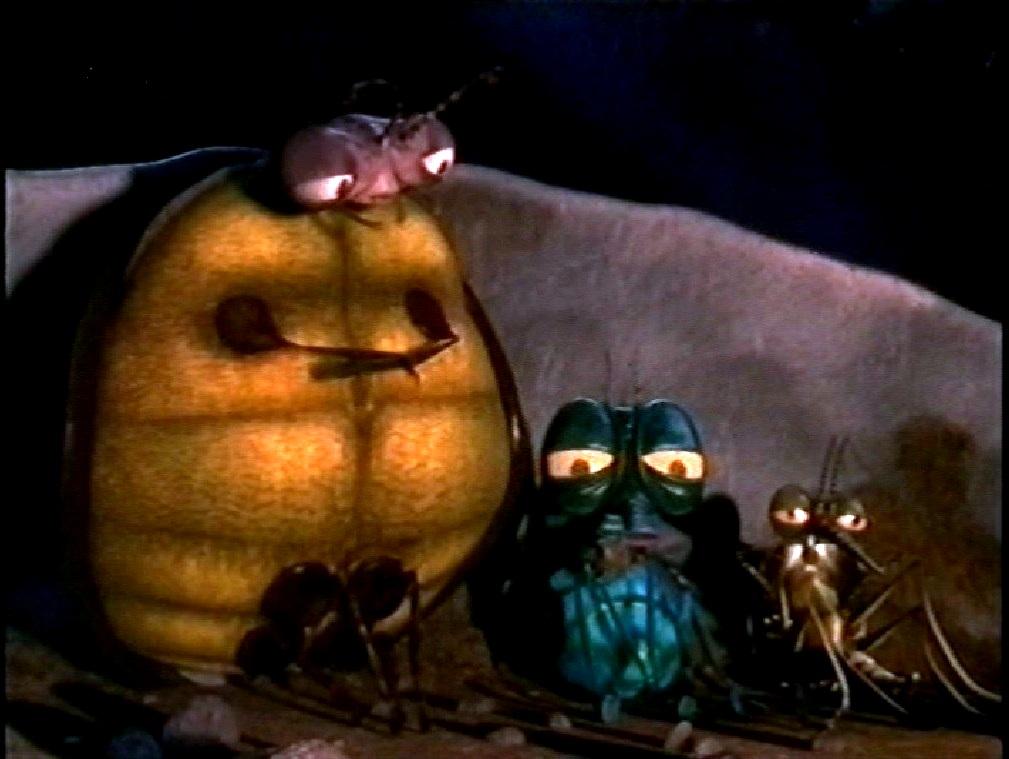 """""""Hvad nu hvis vi bare er sådanne små tingester, og vi bare ligesom er en del af et så stort univers, at vi ikke engang ved det findes?"""" Spørger det ene insekt. """"Mand, det er bare så dybt,"""" replicerer et andet. Fra Dreamworksproduktionen Antz, 1998."""