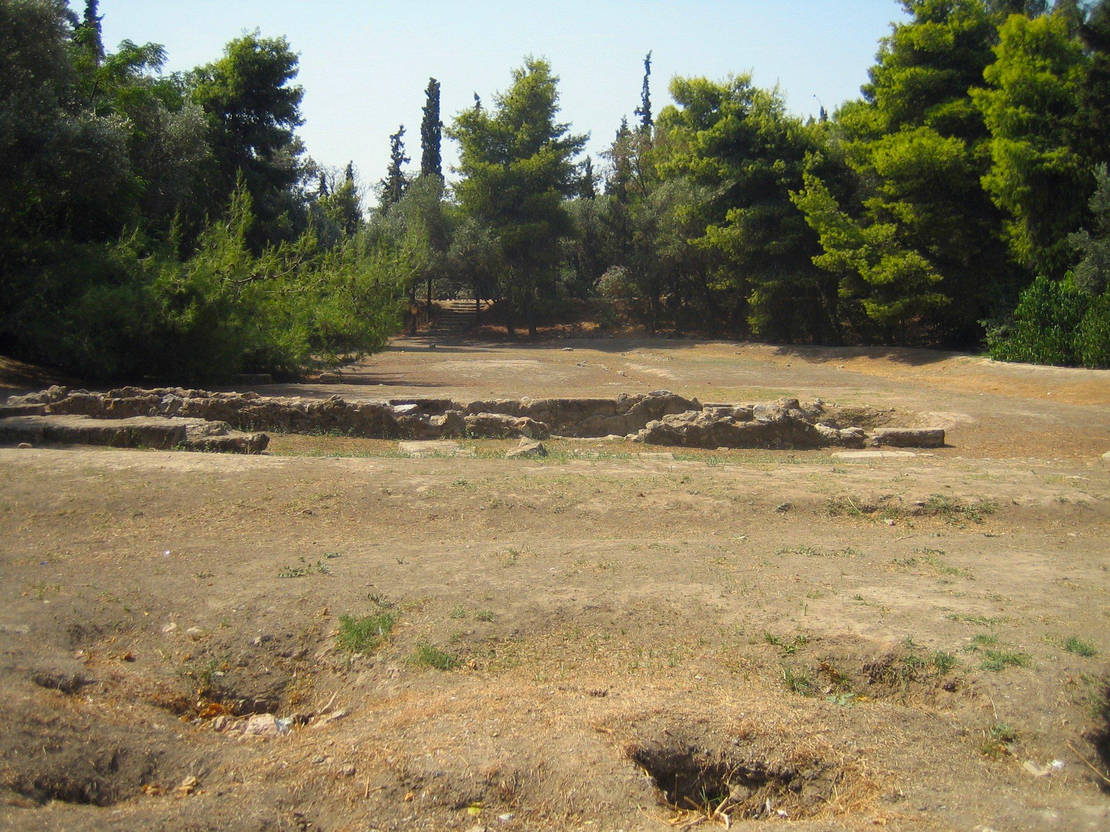 Resterne af Platons Akademi i Athen. Wiki Commons. Photo, Tomisti.