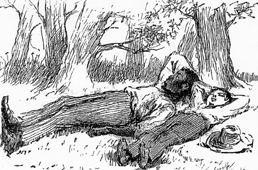 Illustration fra romanen Huckleberry Finn, hvor Huck Finn ender i et dilemma: skal han følge sin kristen opdragelse og tilbageføre den undvegne slave, Jim (Hucks bedste ven), til sin ejer eller bryde loven og fortsætte sin rejse med ham. Fantastisk højtlæsningsbog.