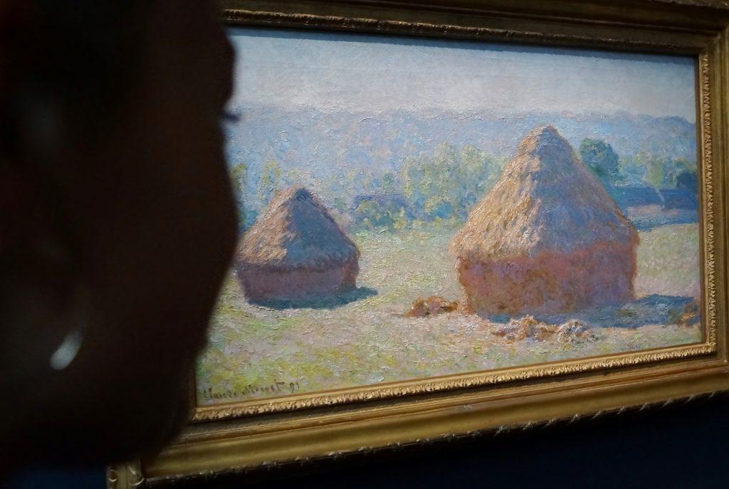Egå Ungdoms-Højskole på Musee d'Orsay, Paris, efteråret 2015. Emilie ser på Monet